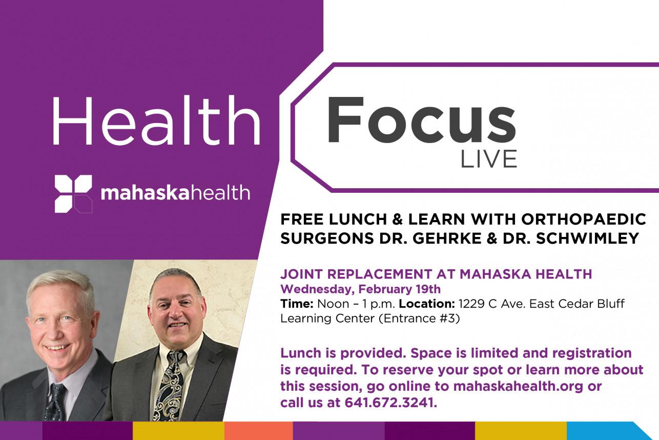Joint Replacement at Mahaska Health 7