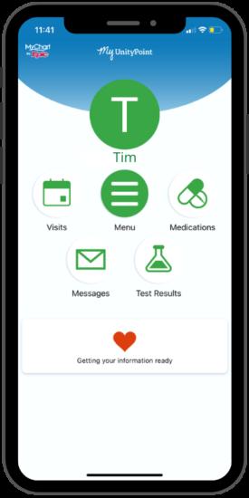 smartphone MyChart