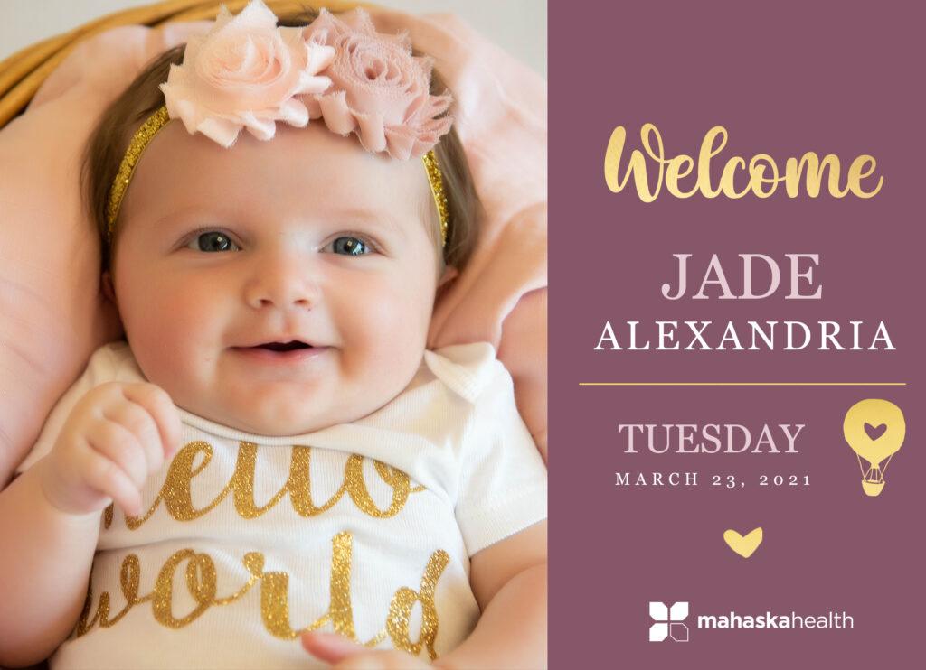 Welcome Jade Alexandria! 6