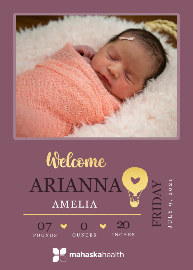 Welcome Arianna Amelia! 6