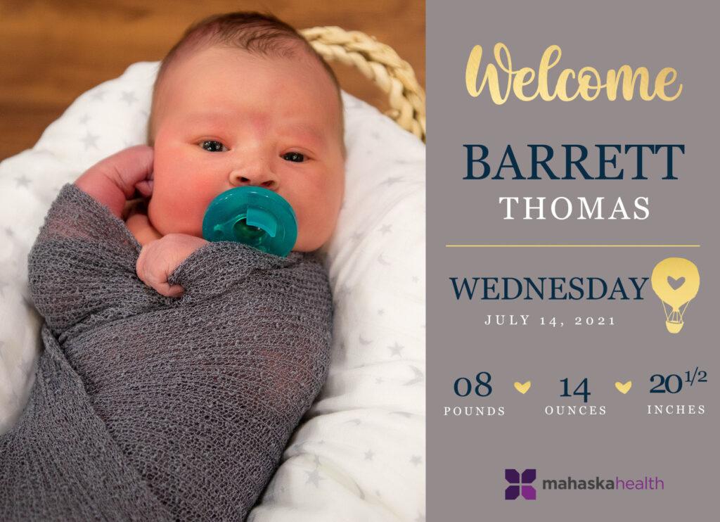 Welcome Barrett Thomas! 6