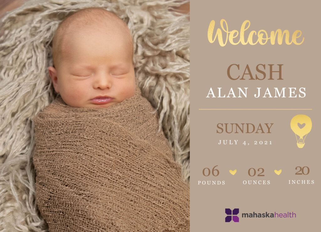 Welcome Cash Alan James! 6