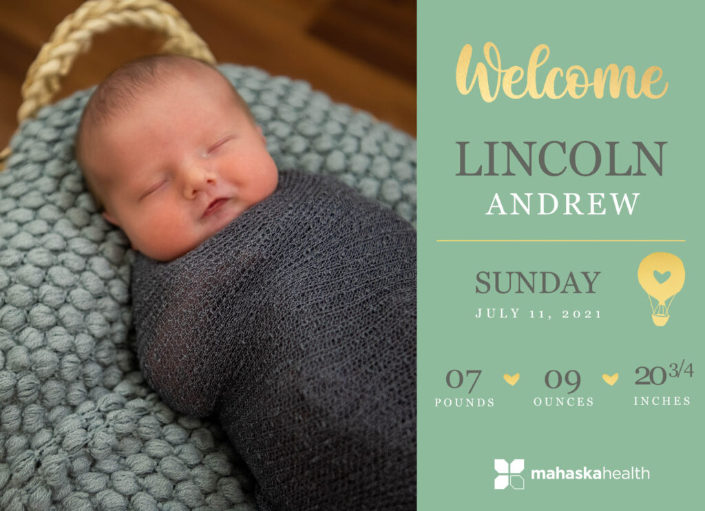 Welcome Lincoln Andrew! 6