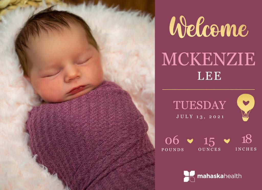 Welcome McKenzie Lee! 6