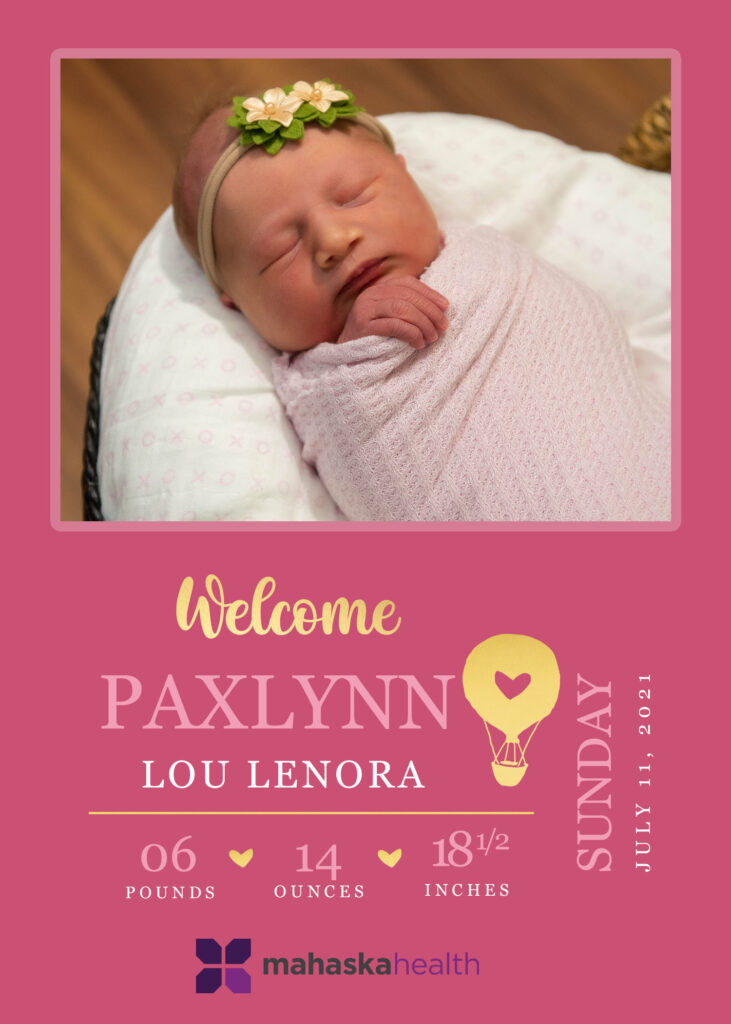 Welcome Paxlynn Lou Lenora! 6