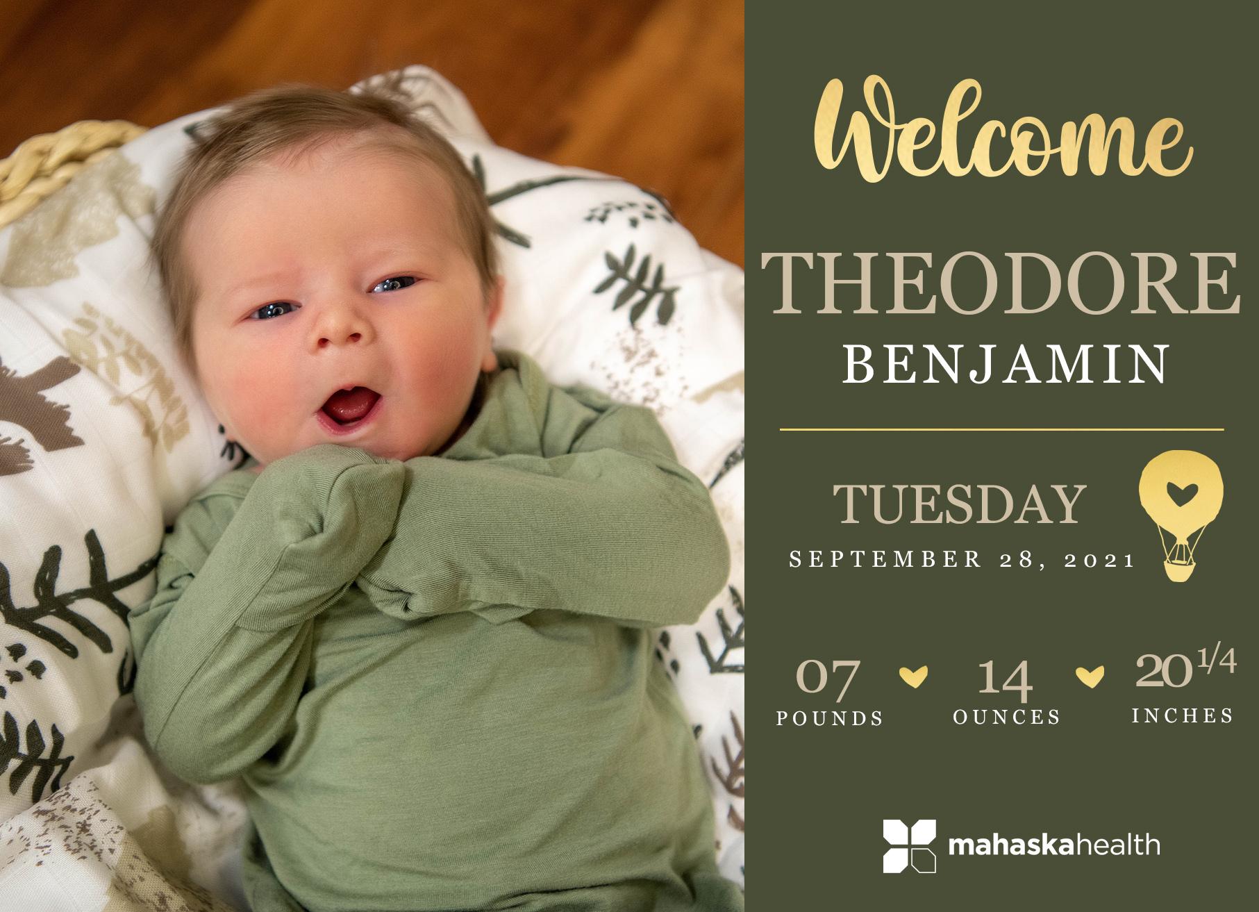 Welcome Theodore Benjamin! 6
